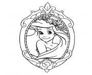 ariel bebe dessin à colorier