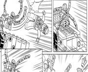 Coloriage lego marvel avec spiderman