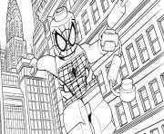 Coloriage lego marvel avec spiderman dessin