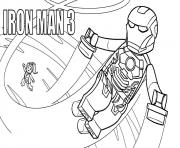 Coloriage lego marvel iron man 3