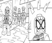 Coloriage lego marvel spiderman stpo les bandits