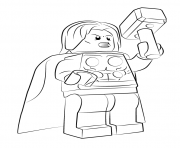 Coloriage lego marvel thor avengers dessin