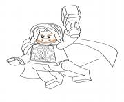 Coloriage lego marvel thor