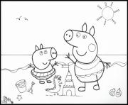 Coloriage peppa pig 48