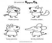 Coloriage relie les points sac a dos peppa pig dessin