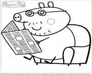 Coloriage peppa pig 17 dessin