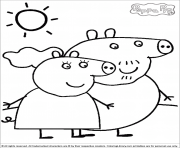 Coloriage peppa pig 148