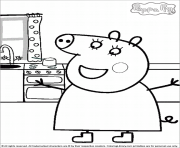 Coloriage peppa pig 76