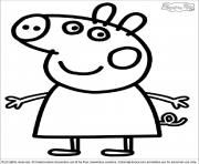 Coloriage peppa pig 14