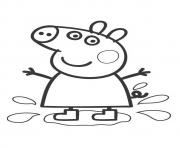 Coloriage Family Summer Vacation Daddy Pig dessin