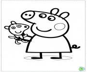 peppa pig 5 dessin à colorier