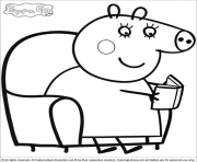 Coloriage peppa pig 124