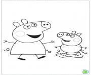 Coloriage peppa pig 3 dessin