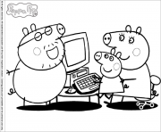 Coloriage peppa pig 32 dessin