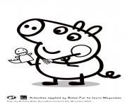 Coloriage peppa pig 67 dessin