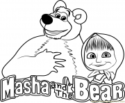 Masha and the Bear masha et michka logo dessin à colorier