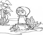 masha et michka est desolee dessin à colorier