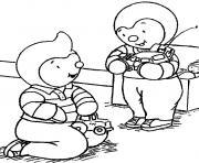 tchoupi et doudou 26 dessin à colorier