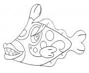 Denticrisse pokemon soleil lune dessin à colorier