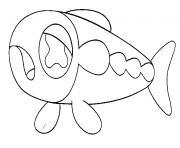 Froussardine  forme solitaire pokemon soleil lune dessin à colorier