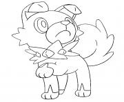 Coloriage Meteno pokemon soleil lune dessin