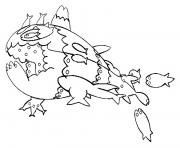 Froussardine pokemon soleil lune dessin à colorier