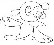 Coloriage Bombydou pokemon soleil lune dessin