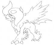 Coloriage pokemon mega evolution Absol 359