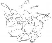 Coloriage pokemon mega evolution Alakazam 65
