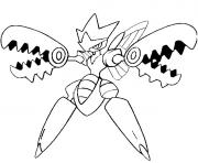 Coloriage pokemon mega evolution Cizayox