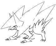 Coloriage pokemon mega evolution Elecsprint