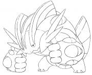 Coloriage pokemon mega evolution Laggron 260