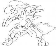 Coloriage pokemon mega evolution Lucario 448