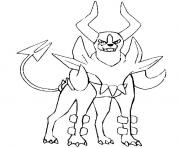 Coloriage pokemon mega evolution Demolosse 229