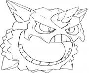 Coloriage pokemon mega evolution Oniglali 362