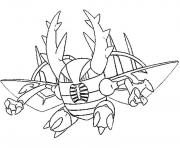 Coloriage pokemon mega evolution Scarabrute 127