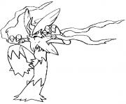 Coloriage pokemon mega evolution Brasegali