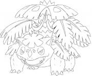 Coloriage pokemon mega evolution Florizarre