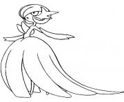 pokemon mega evolution Gardevoir 282 dessin à colorier