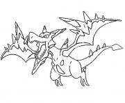 Coloriage pokemon mega evolution Ptera 142