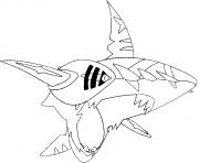pokemon mega evolution Sharpedo 319 dessin à colorier