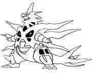 Coloriage pokemon mega evolution Tyranocif