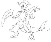 Coloriage pokemon mega evolution Carchacrok