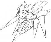 Coloriage pokemon mega evolution Dardargnan 15