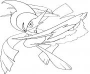 Coloriage pokemon mega evolution Gallame 475