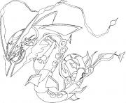 Coloriage pokemon mega evolution Rayquaza 384