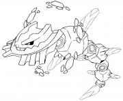 Coloriage pokemon mega evolution Steelix 208