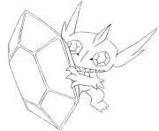 Coloriage pokemon mega evolution Tenefix 302