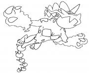 Coloriage 642 Fulguris pokemon forme alternative