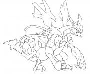 Coloriage 646 Kyurem noir pokemon forme alternative